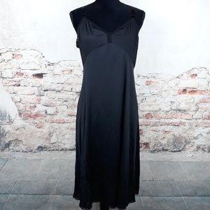 Shadowline Vtg Black Slip  Sz 38 Tall Nylon Lace